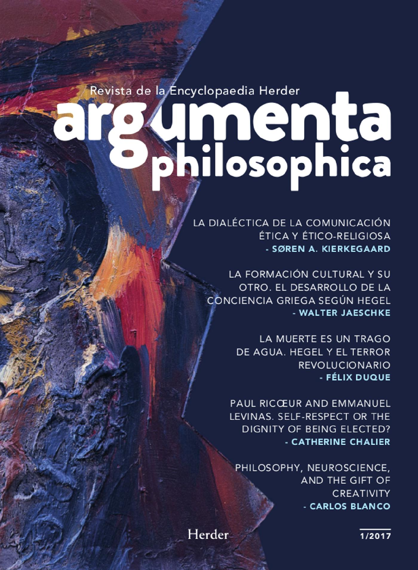 ARGUMENTA PHILOSOPHICA 2017 - VOL. 1